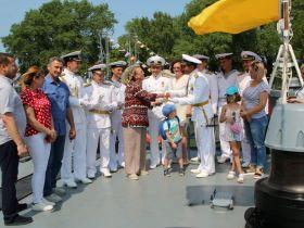 Делегация трудового коллектива АВТОТОР посетила с шефским визитом экипаж МРК «Серпухов»