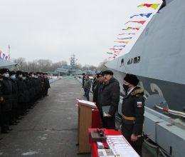 АВТОТОР поздравил экипаж МРК «Серпухов» с 5-летним юбилеем корабля